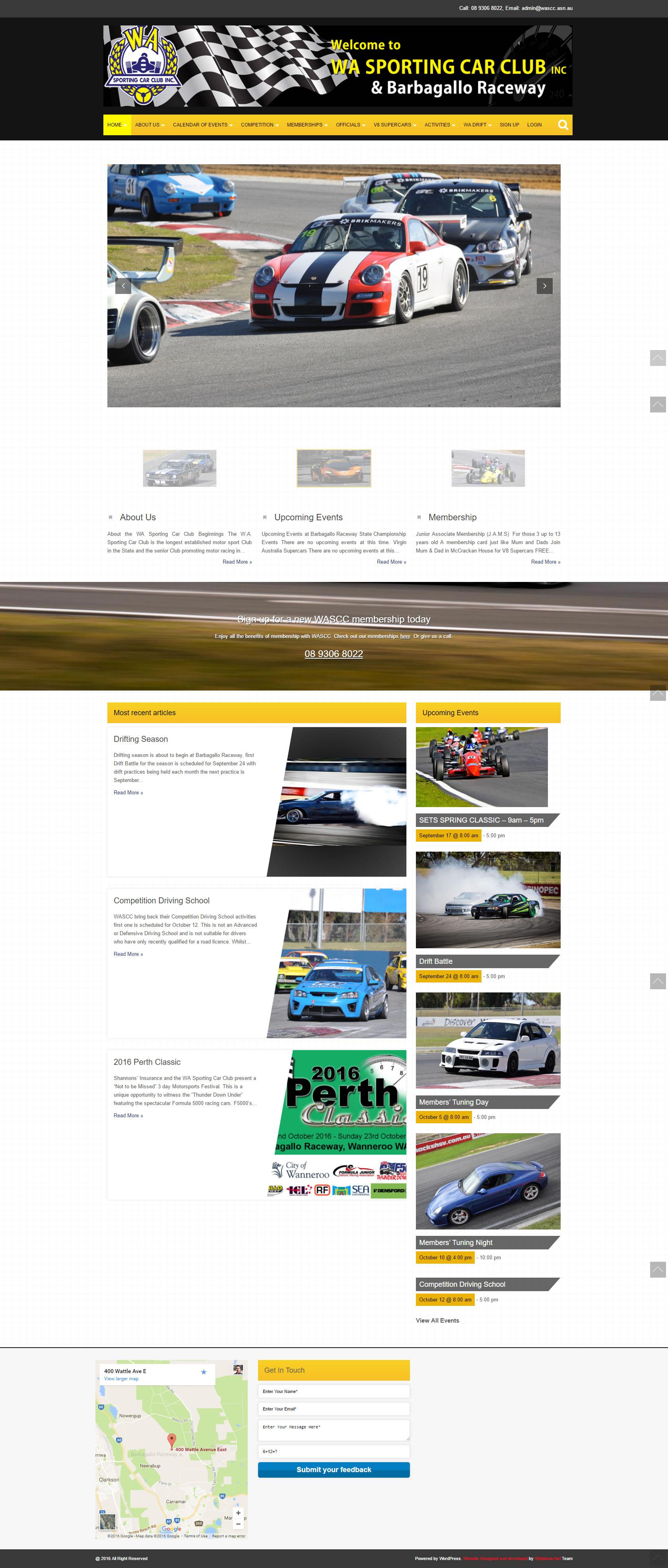 WASCC website redesign