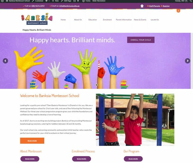 Banksia Montessori School Website Redesign