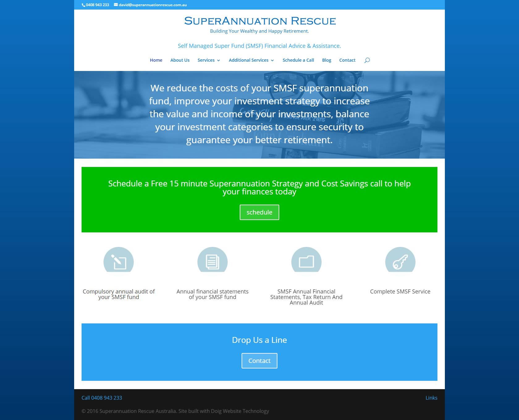 Superannuation Rescue Australia website