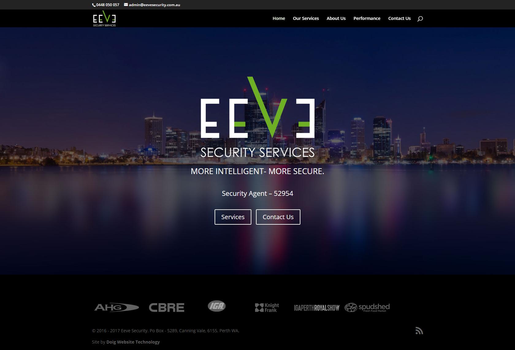 Eeve Security WordPress migration