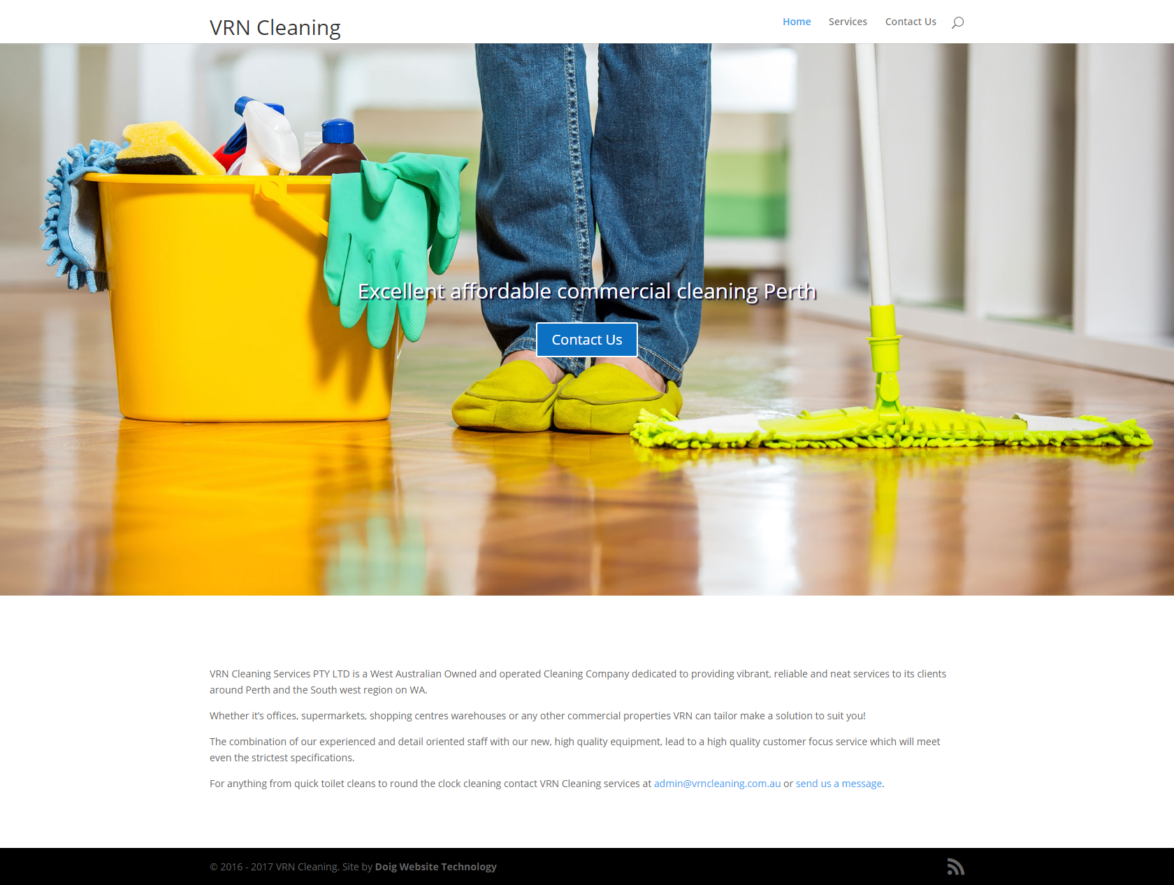 VRN Cleaning website design Perth